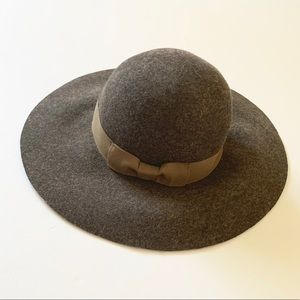 Yellow 108 | Brown Wool Floppy Hat